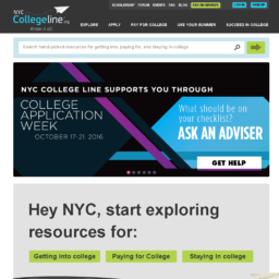 NYC College Line Website thumbnail