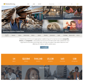 GlobalGiving website