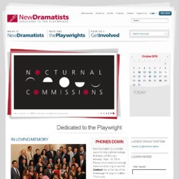 Dramatists website thumbnail