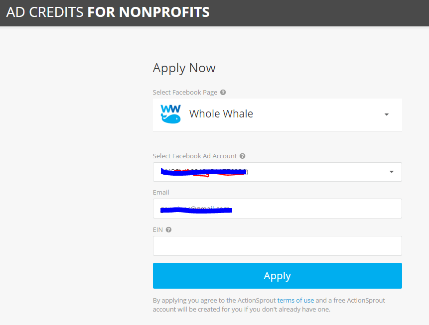 Facebook Advertising Grants for Nonprofits - Whole Whale