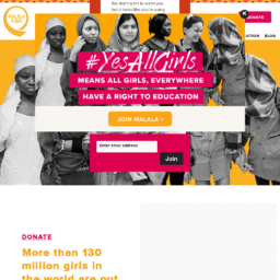 Malala Fund website thumbnail