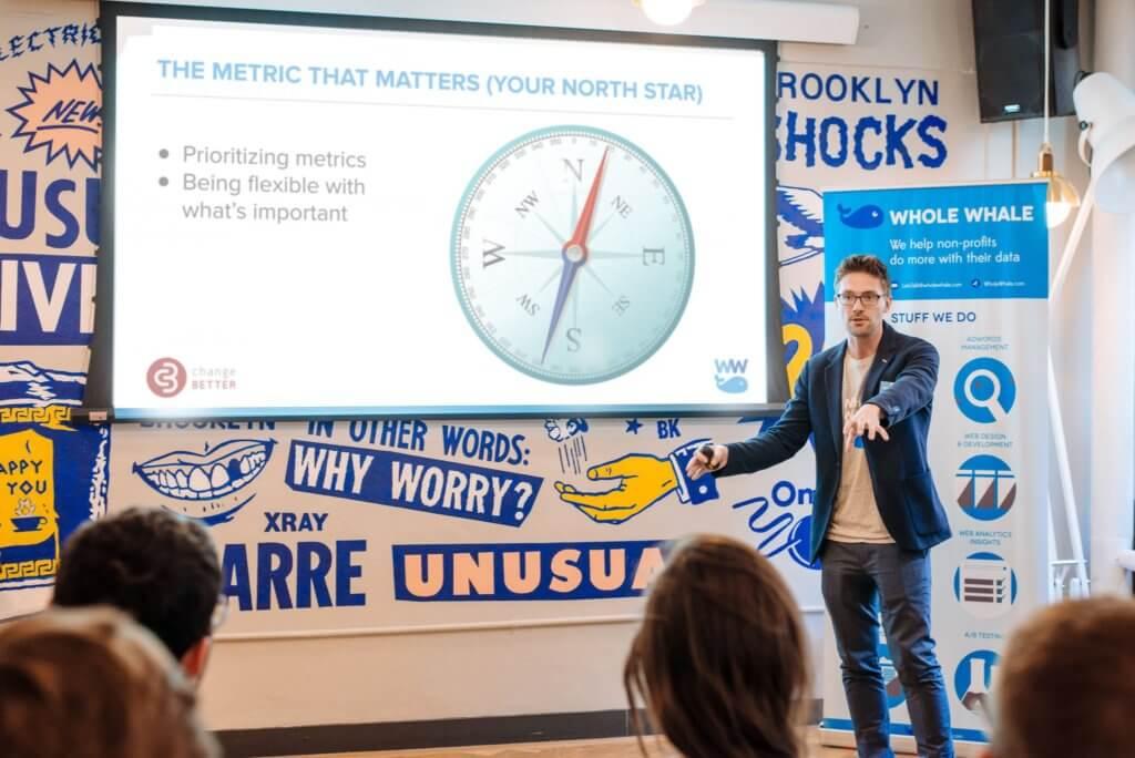 George presenting the metrics that matter