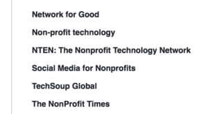 Facebook ads targeting - nonprofit technology targeting