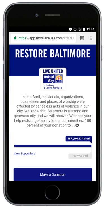 United Way Restore Baltimore