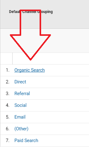 Google Analytics Organic Traffic Step 4