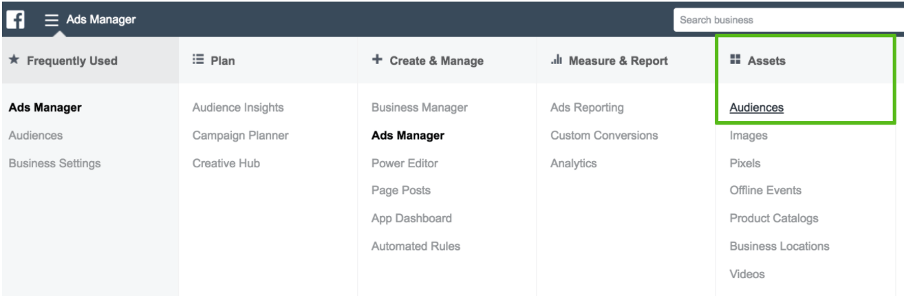 facebook retargeting ads manager