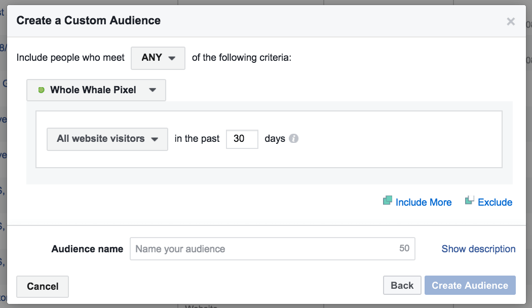 facebook retargeting web traffic targeting