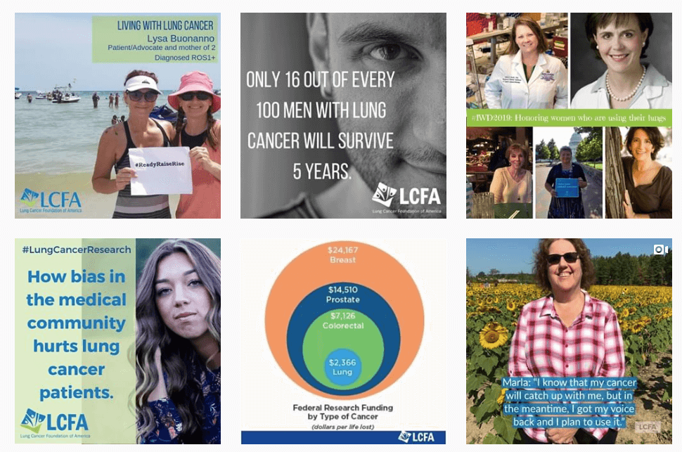 Lung Cancer Foundation of America's Instagram