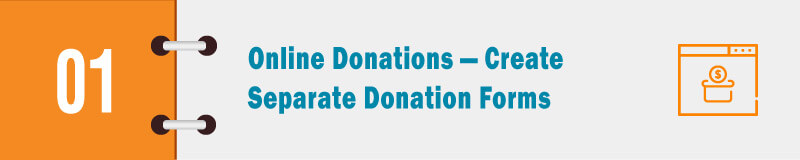 create separate donation forms