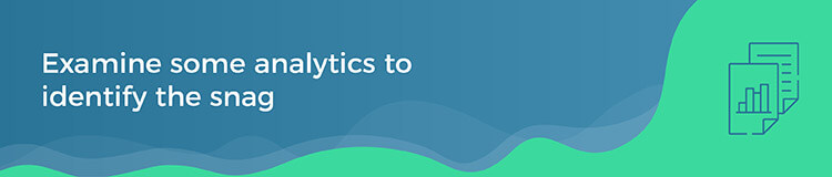 Use Google Analytics to determine site issues.