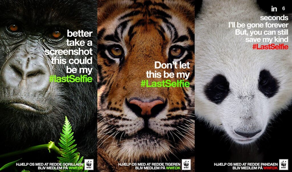 World Wildlife Fund LastSelfie Campaign
