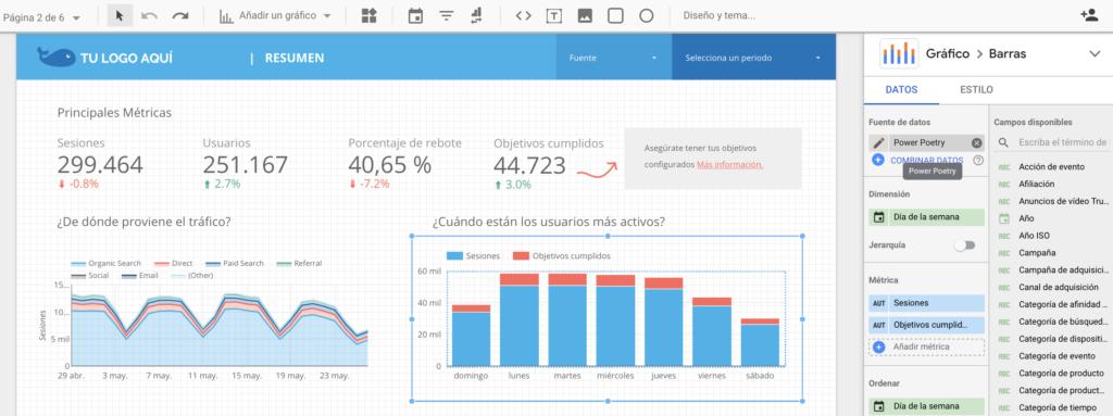 Cambiar Grafico - Data Studio