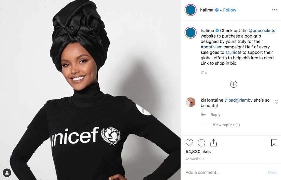 Halima Aden for UNICEF