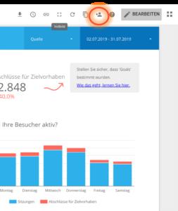 Data Studio Screenshot in Teilen hervorgehoben