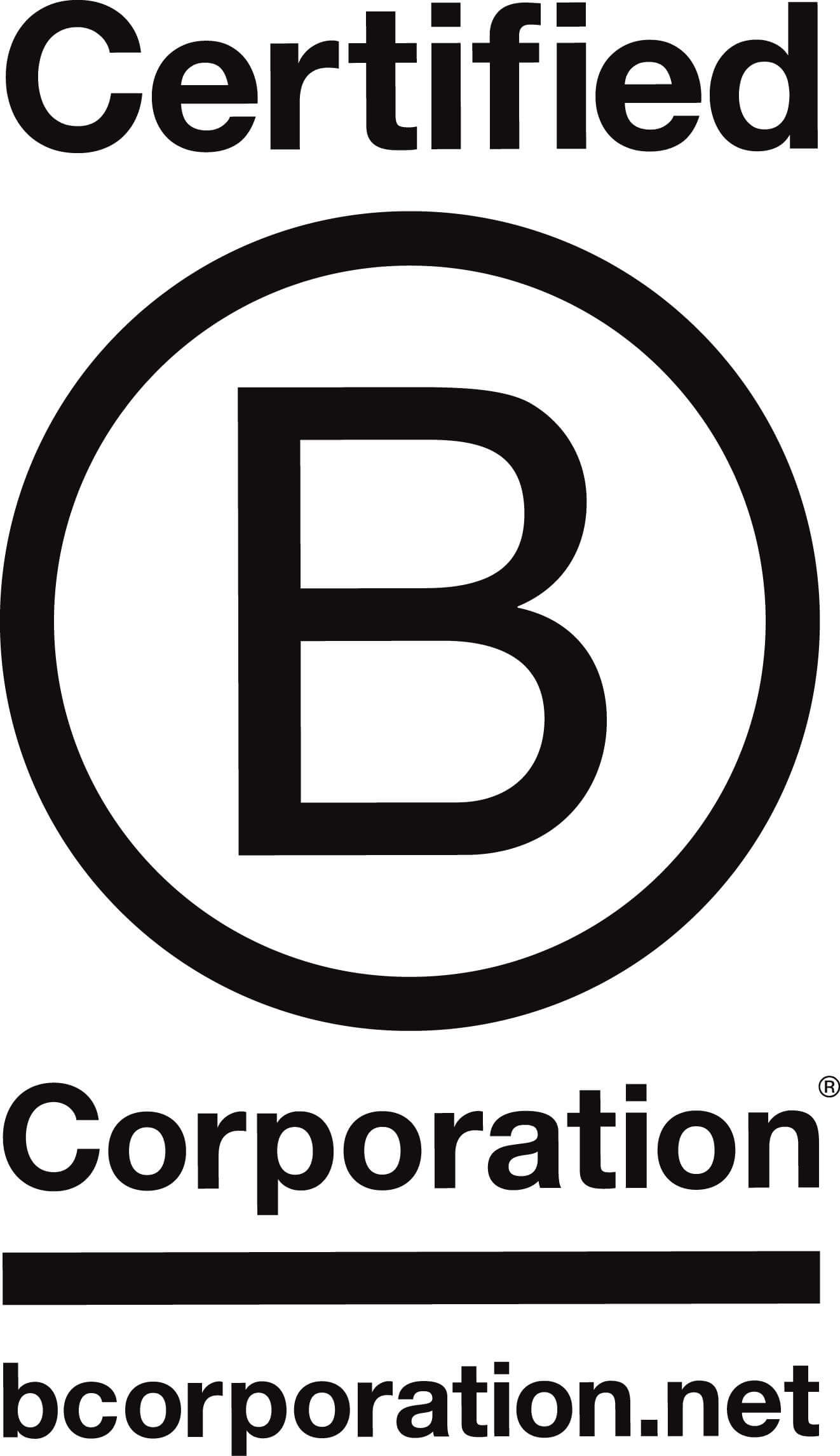 Logo for certified B corporations