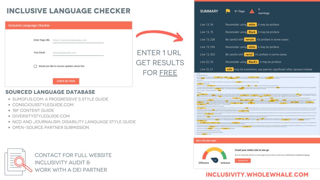 Inclusive language checker